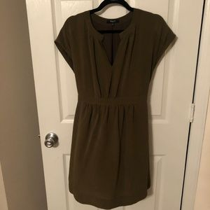 Green Madewell Cinched Wasit Dress Size 4
